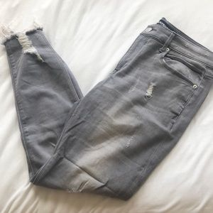 Express Distressed Grey Jeans